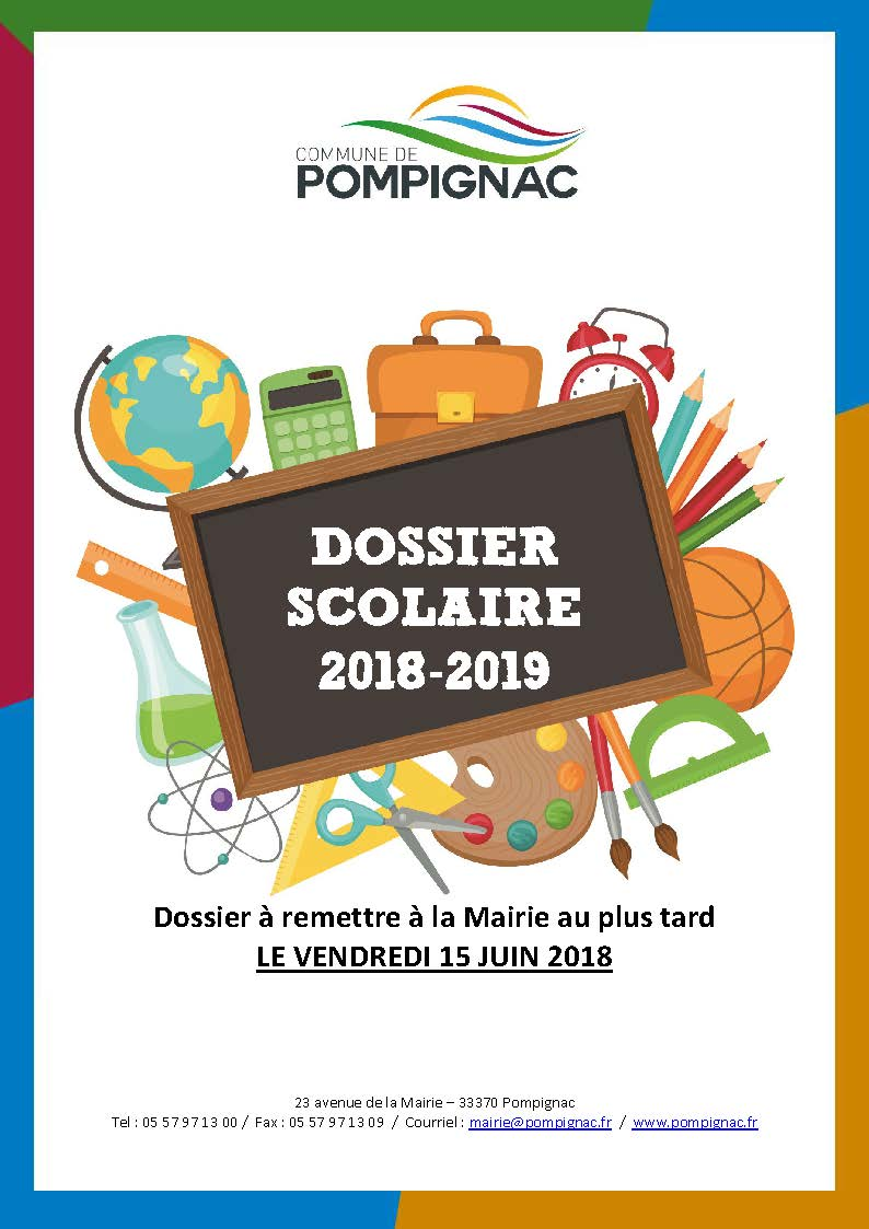 dossier scolaire 2018 Pagdegarde